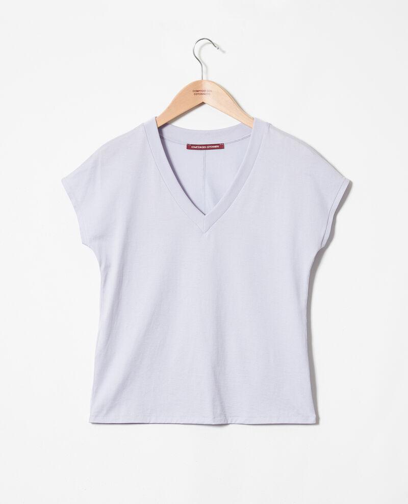 T-Shirt mit V-Ausschnitt Purple Ifallena