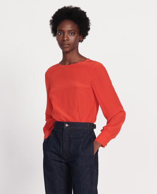Bestickte Bluse FIERY RED