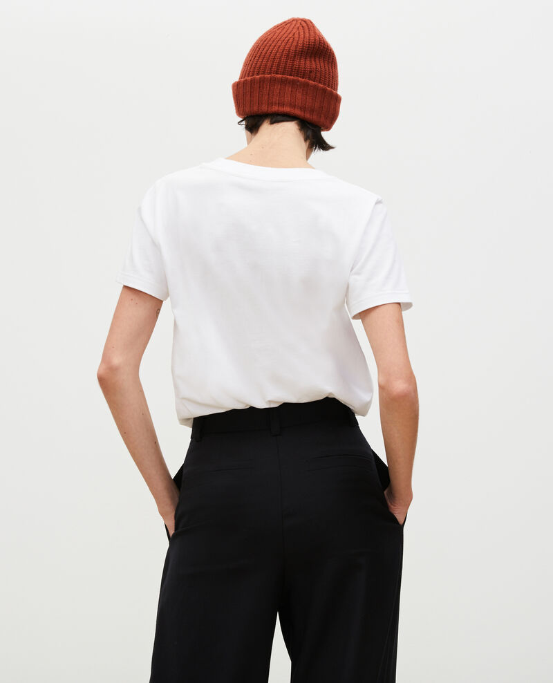 T-Shirt aus Baumwolle mit kurzen Ärmeln Brilliant white Mara