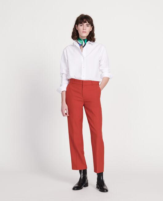 Klassische Bluse aus Popelin OPTICAL WHITE