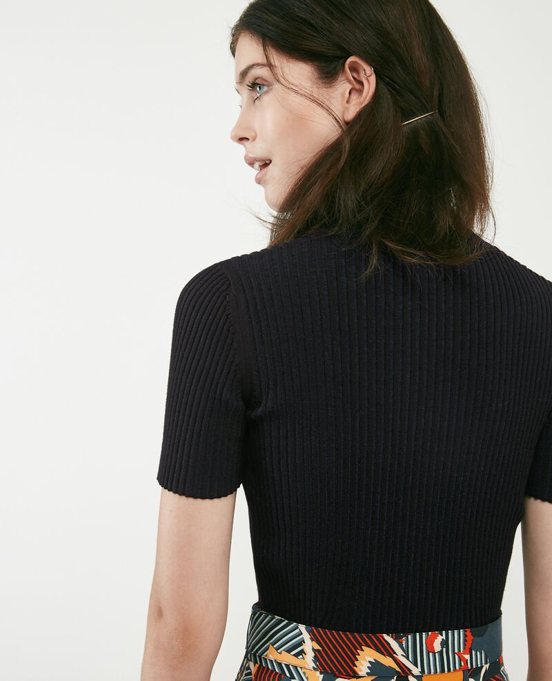 T-Shirt aus Rippstrick Noir Dragibus