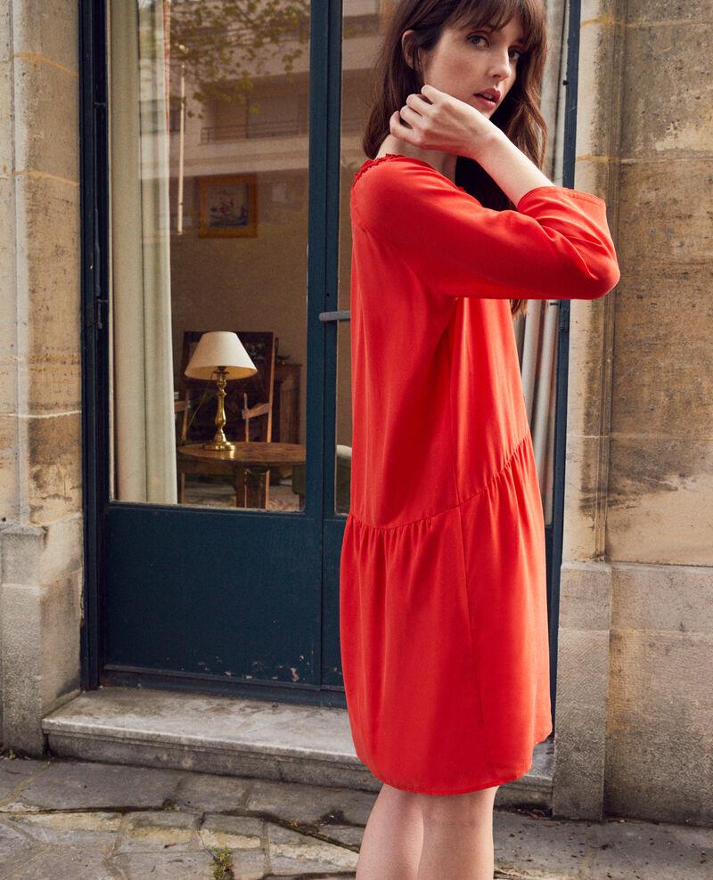Kleid mit Seide Molten lava Jeopard