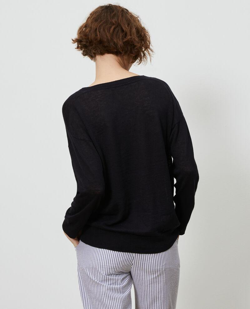 Pullover aus Leinen und Bio-Baumwolle Black beauty Leonotis