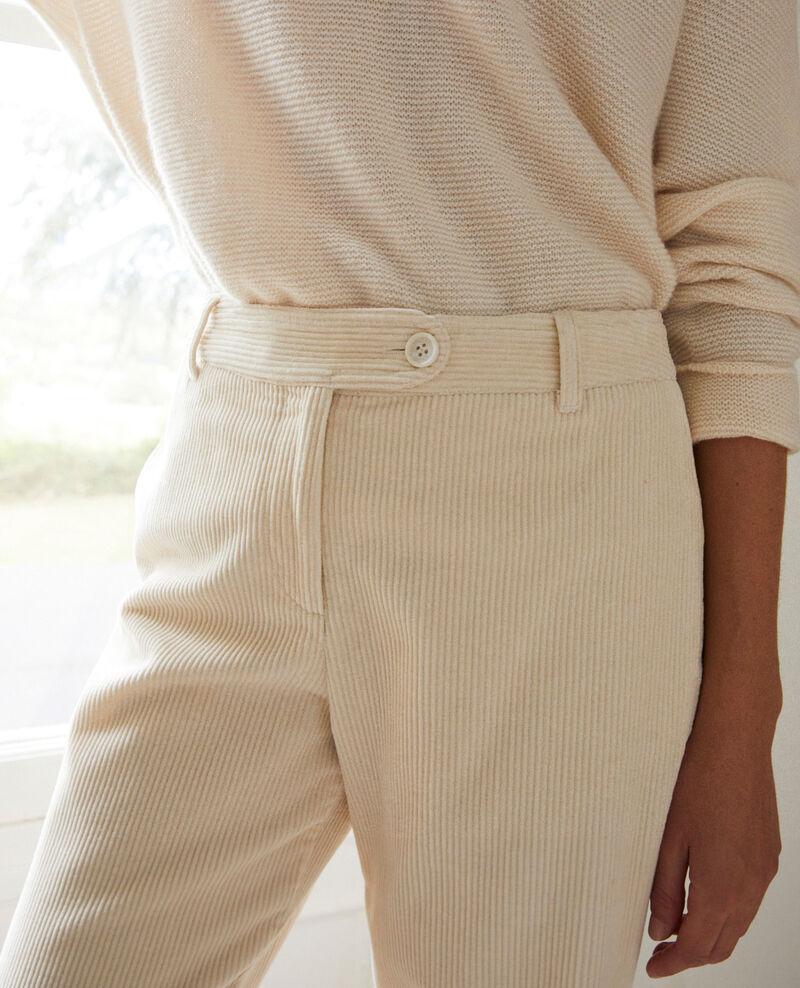 Hose aus Cord Off white Jose
