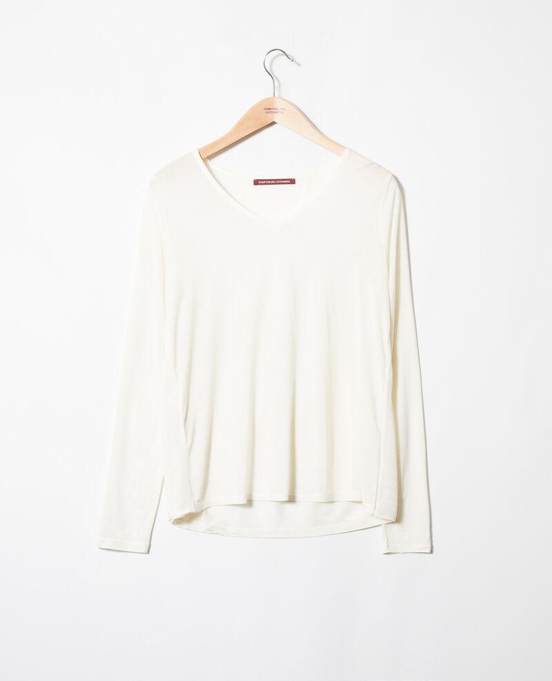 T-Shirt aus Bimaterial Off white Janga