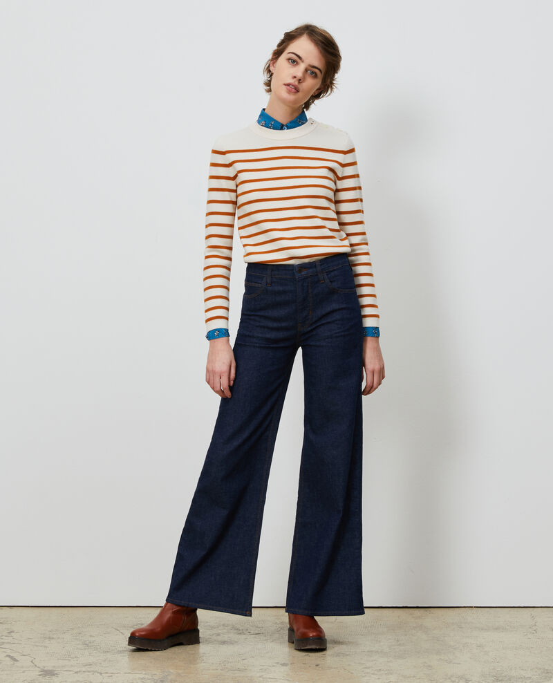 FLARE - Flare-Jeans mit hoher Taille Denim rinse Neuflize