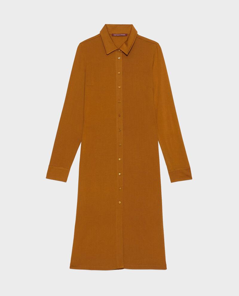 Hemdkleid aus Seidenjersey Bronze brown Lulia