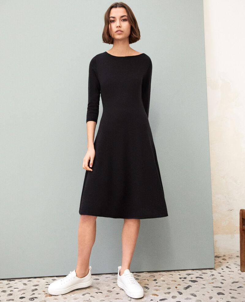 Kleid aus Wolle Noir Irika