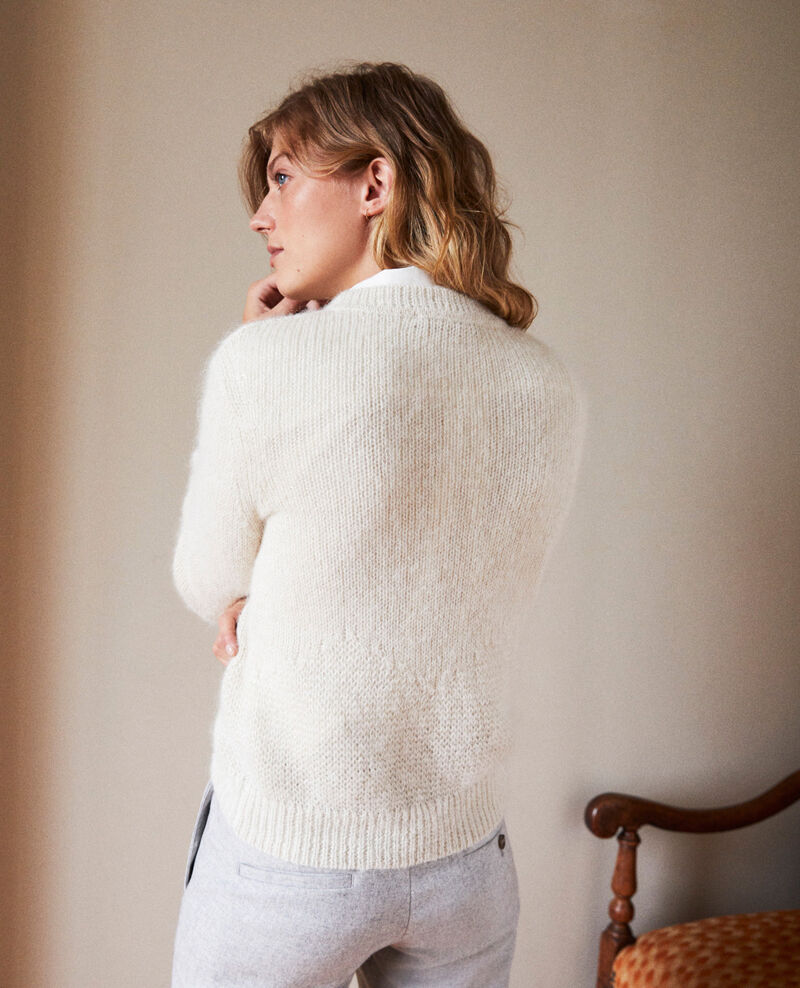 Pullover aus Zierstrick Buttercream Jaheim