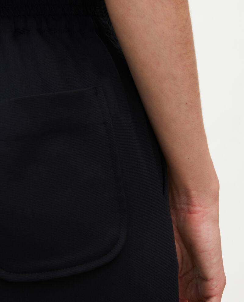 Hose fließender Fall elastischer Bund Black beauty Luant
