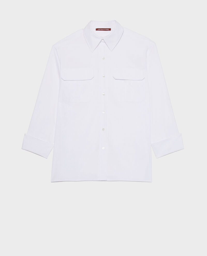 Bluse aus Baumwoll-Popelin Optical white Lauryl