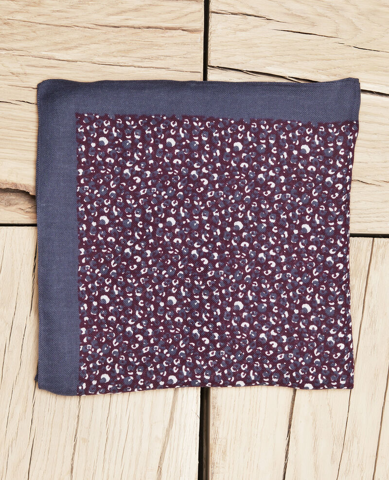 Tuch mit Leoparden-Print Potent purple Jeop