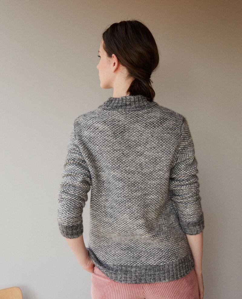 Pullover mit Stehkragen Grau Gretel