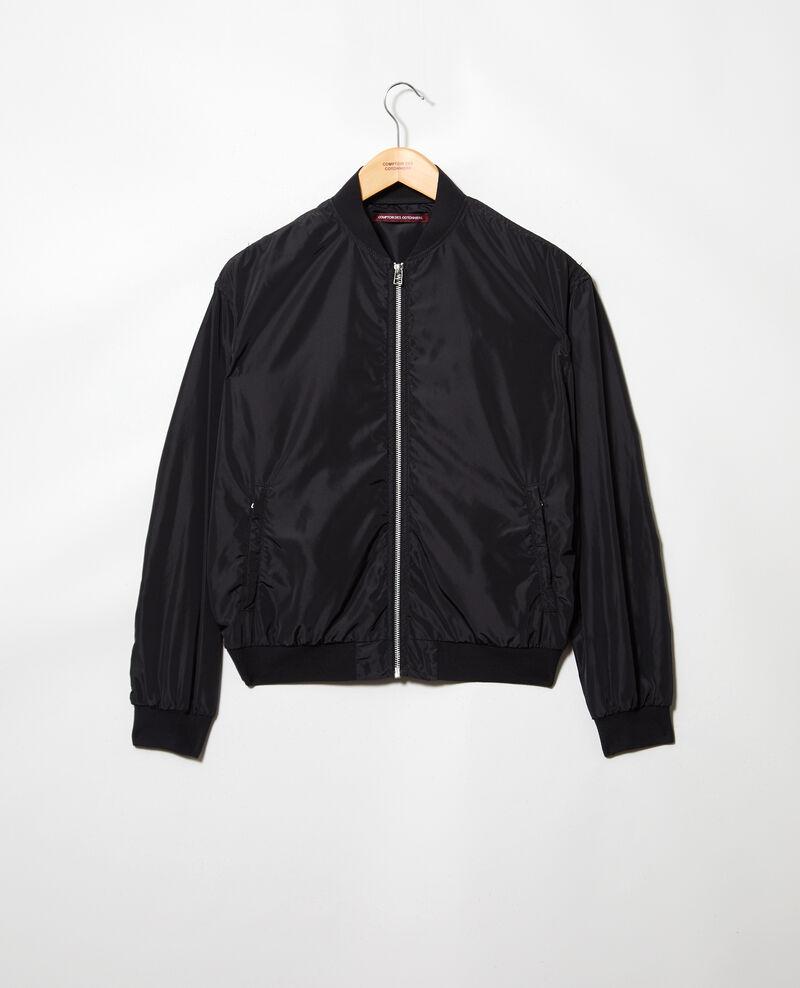 Veste imperméable de style bombers Noir Illica