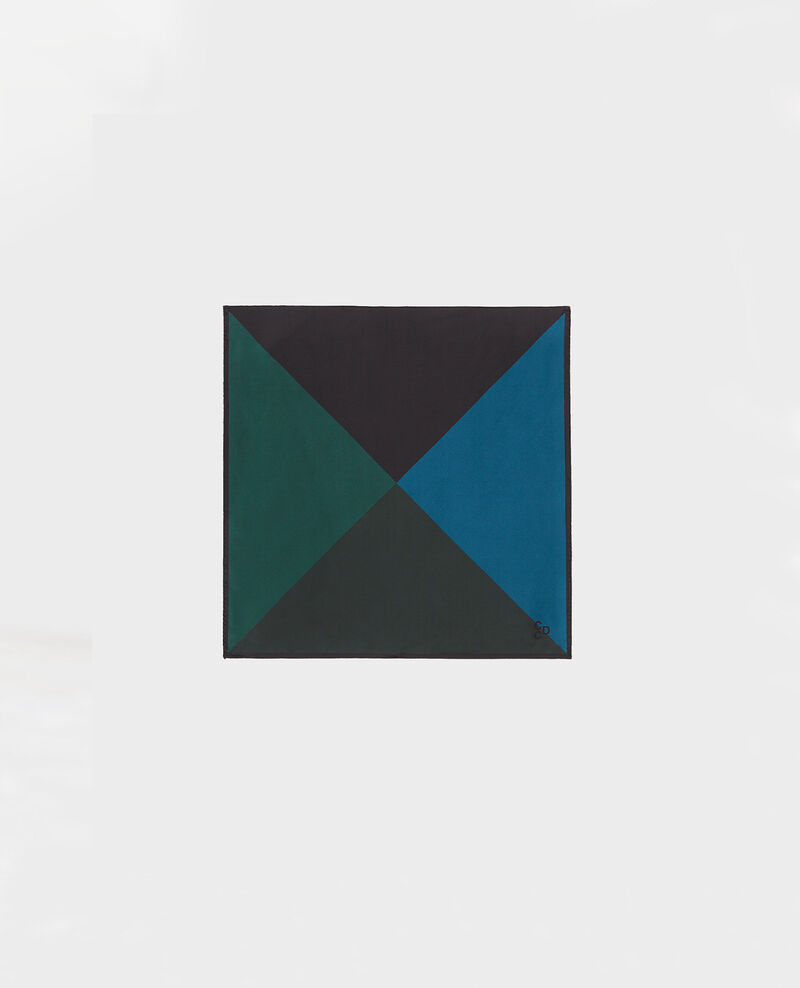 Buntes quadratisches Seidentuch Scarab Massana