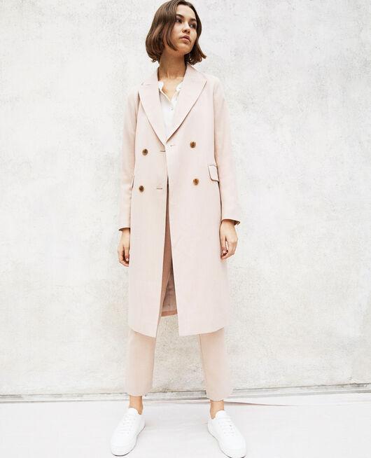 Leichter langer Mantel Beige