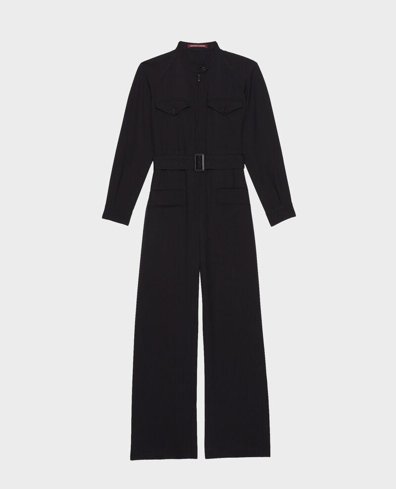 Langärmliger Jumpsuit aus Wolle Black beauty Marbiche