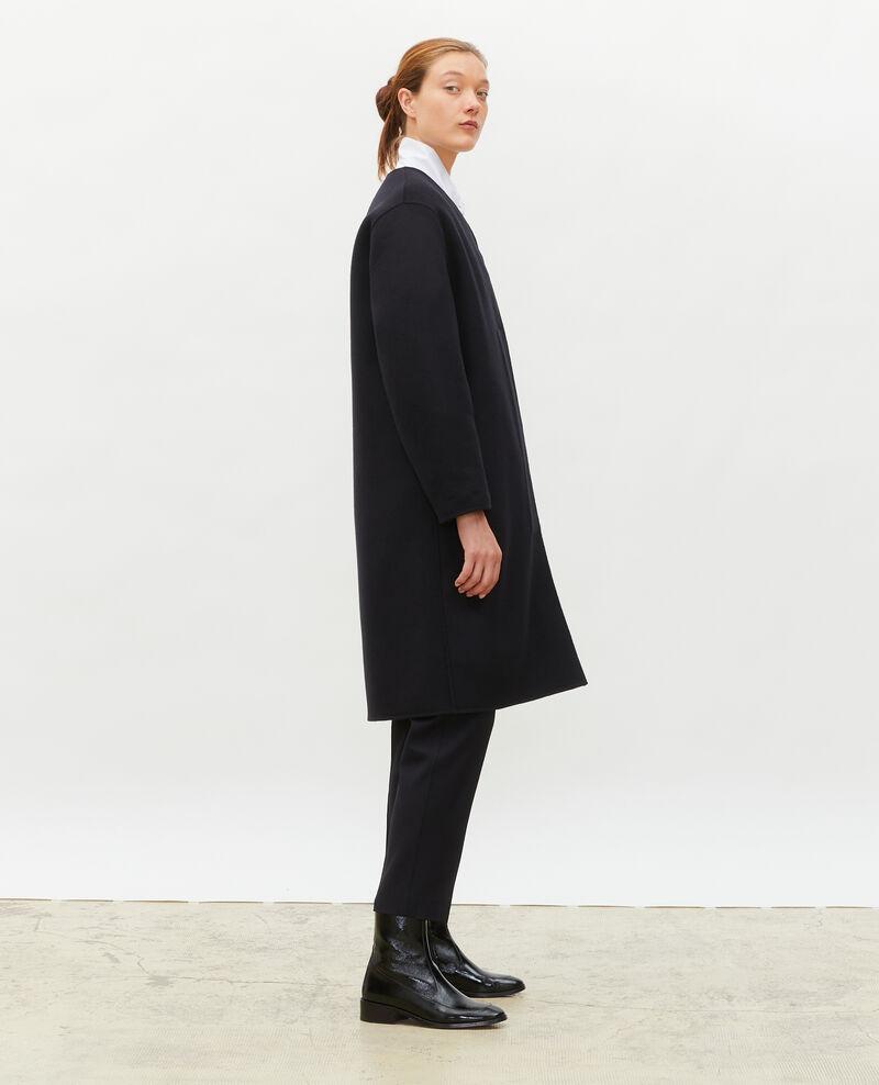 Mantel aus doppelseitiger Wolle Black beauty Muuck