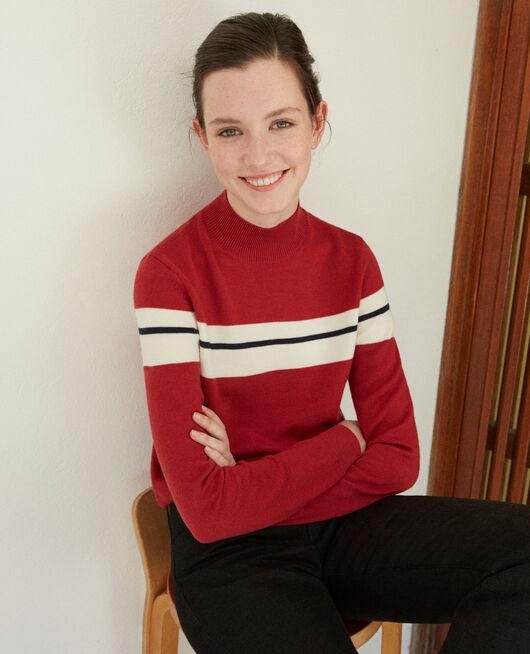 Pullover aus Merinowolle Rot