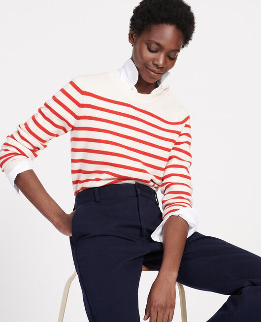 Wollpullover im Marinelook STRIPES FIERY RED GARDENIA