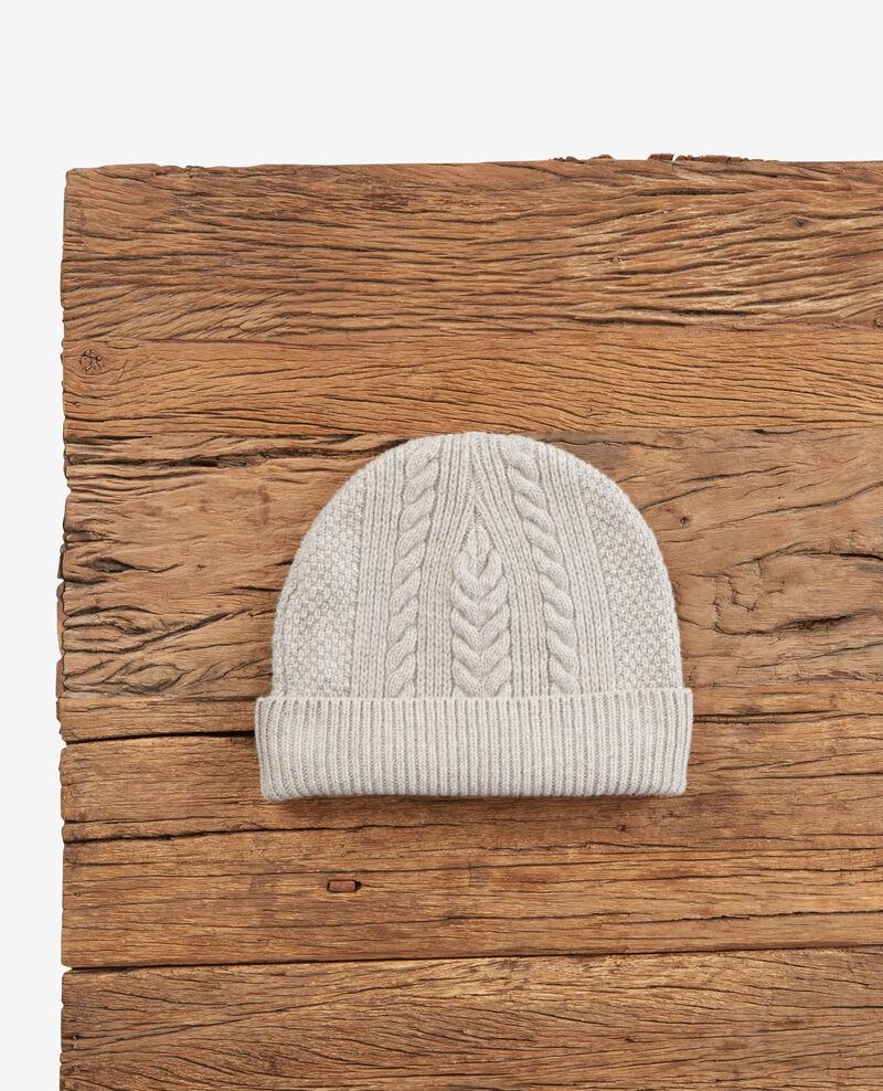 Zopfstrickhaube aus reiner Baumwolle Light grey Dennie