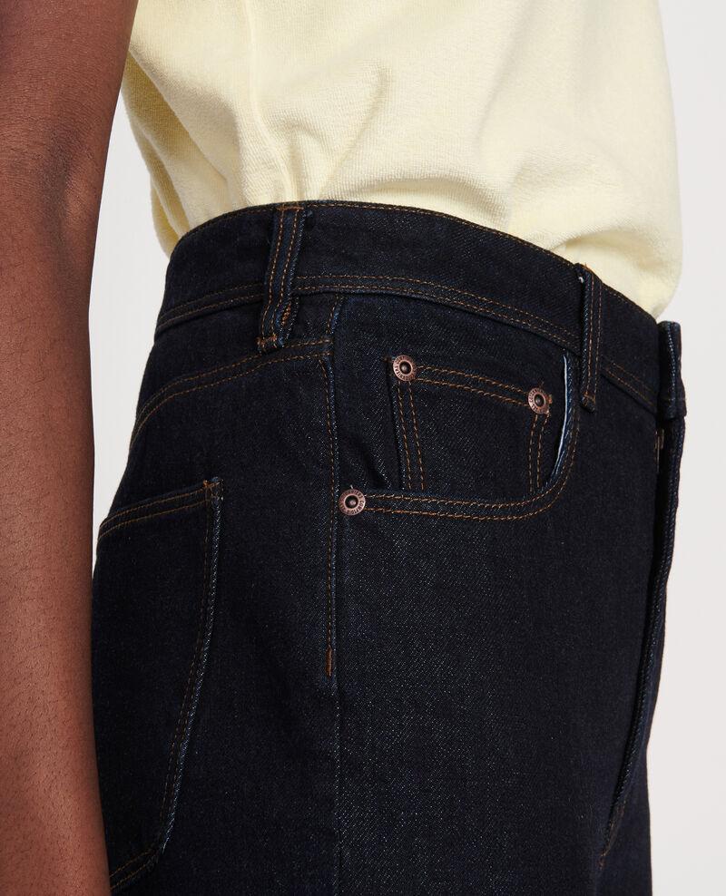 Jeans mit hoher Taille und geradem Schnitt Denim rinse Leoda