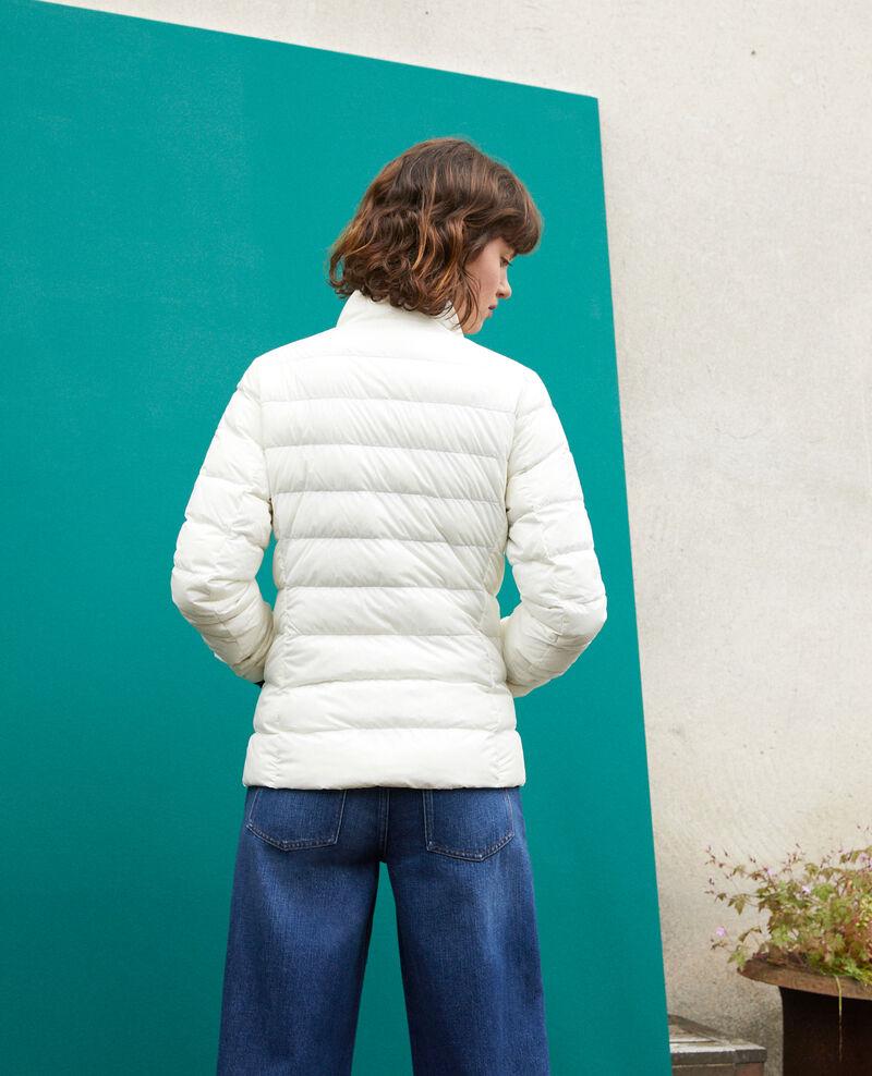 Ultra light Daunenjacke mit Stehkragen Weiß Fuldown
