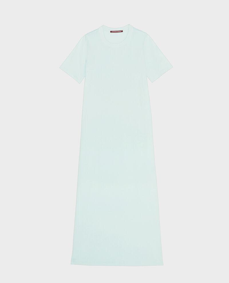 Langes Kleid aus merzerisierter Baumwolle Blue haze Larosata