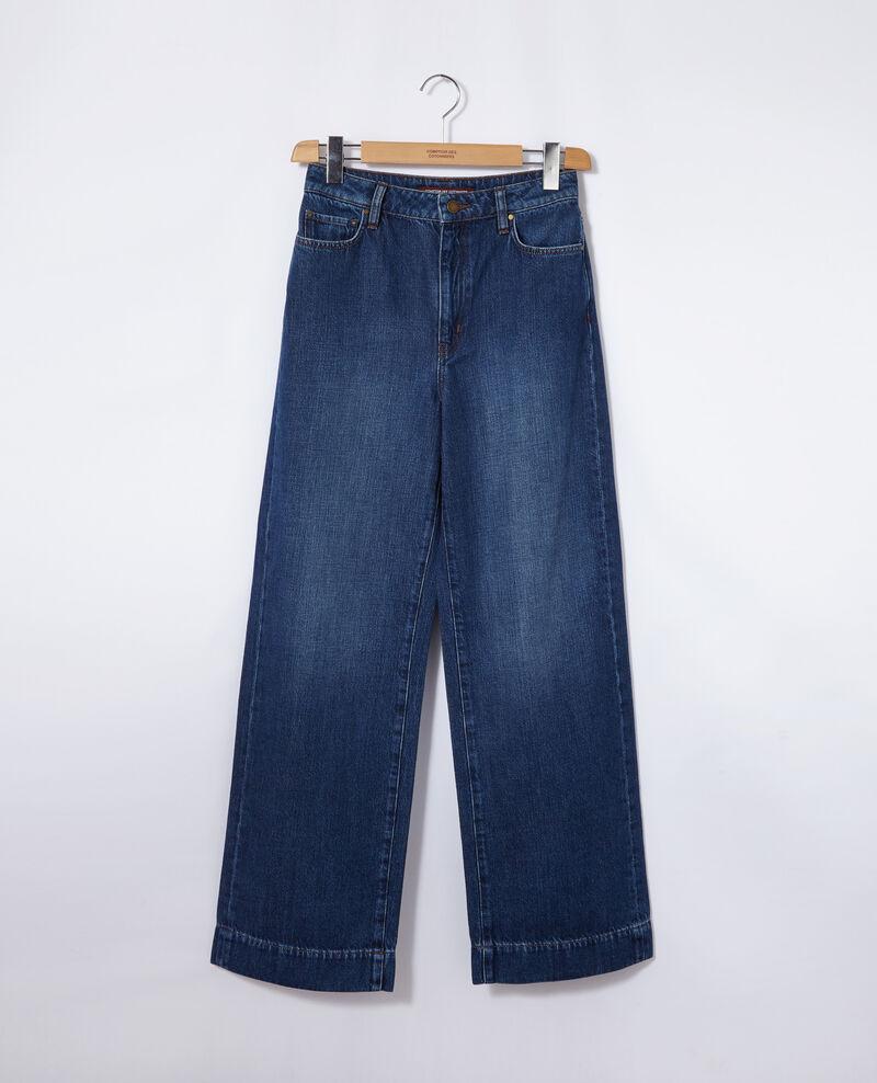 Wide Full Lenght-Jeans Blau Guya