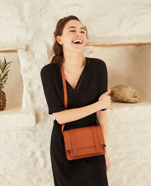 Tasche aus glattem Leder, kleines Modell CAMEL