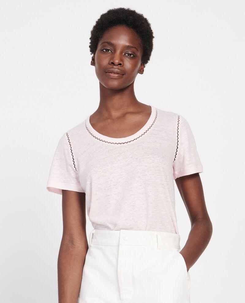 T-Shirt aus Jersey-Leinen Primrose pink Lye