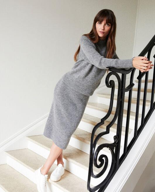 Pullover mit Stehkragen MIDDLE GREY
