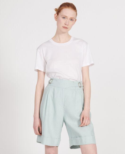 Shorts aus Leinen BLUE HAZE