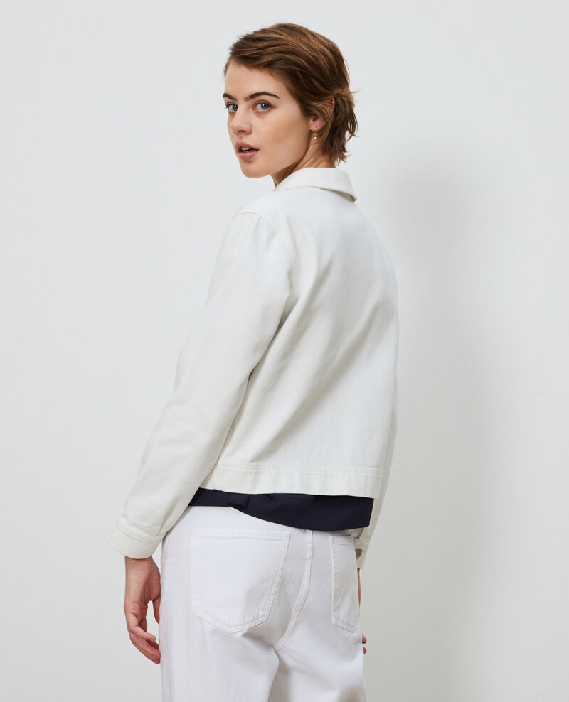 Kurze Jacke aus Baumwolle Optical white Nana