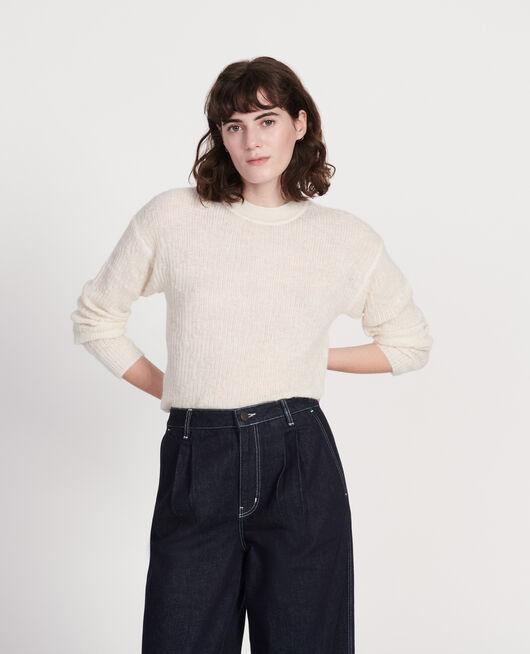 Pullover aus Baby-Alpaka BUTTERCREAM