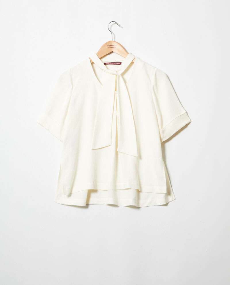 Bluse mit abnehmbarem Band Off white Ipex