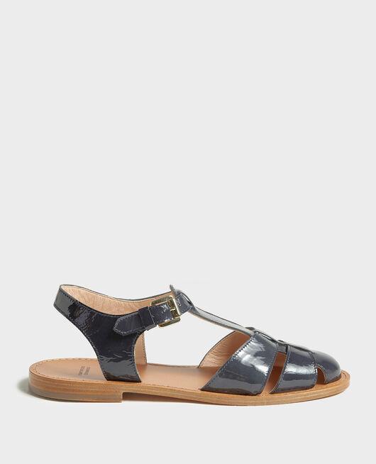 Sandalen aus Lackleder MARITIME BLUE