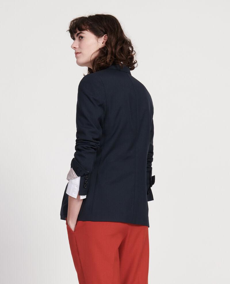 Blazer aus glatter Wolle Dark navy Luscade