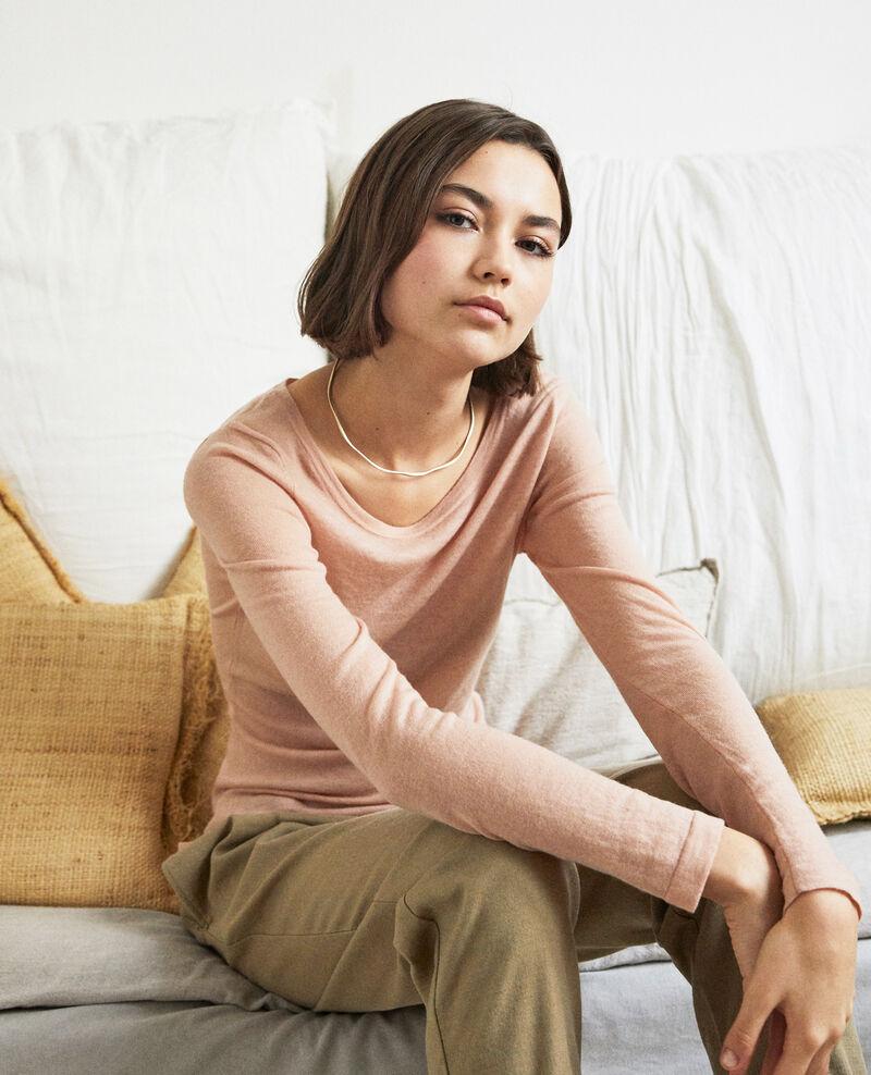 Wollpullover mit Rundhalsausschnitt Pink beige Idouard