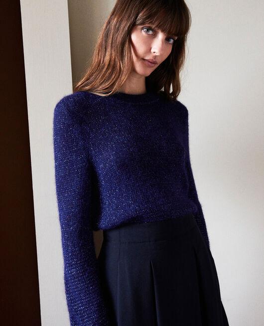 Pullover aus Zierstrick EVENING BLUE