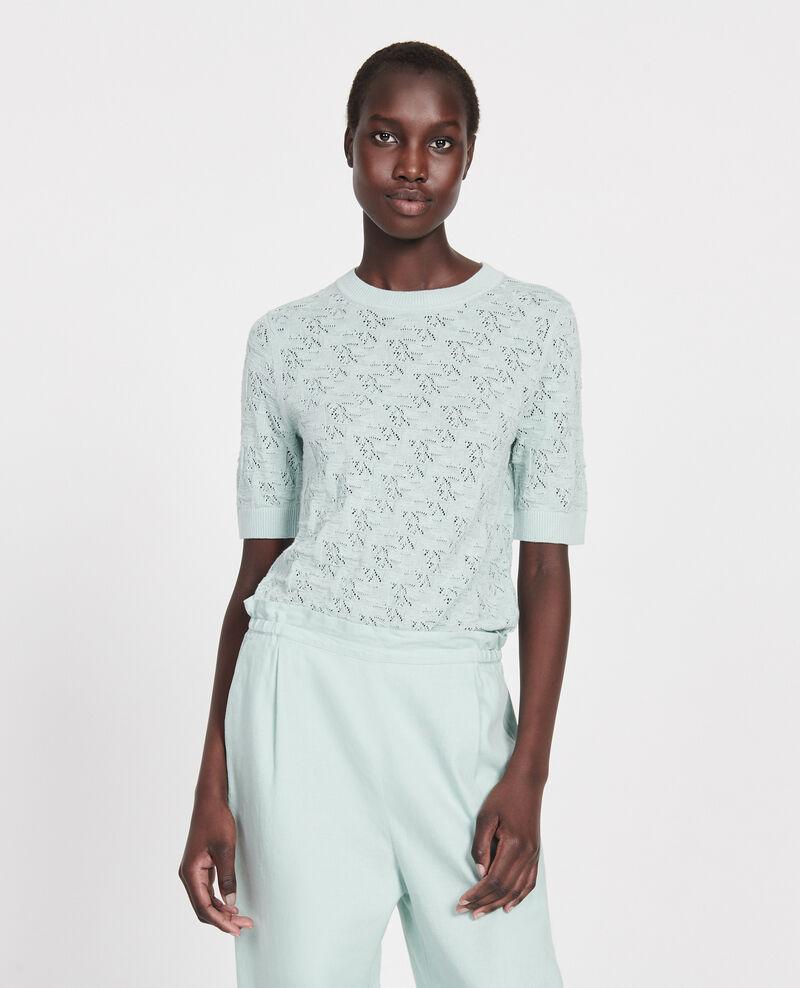 T-Shirt mit Pointelle-Muster Blue haze Lagos