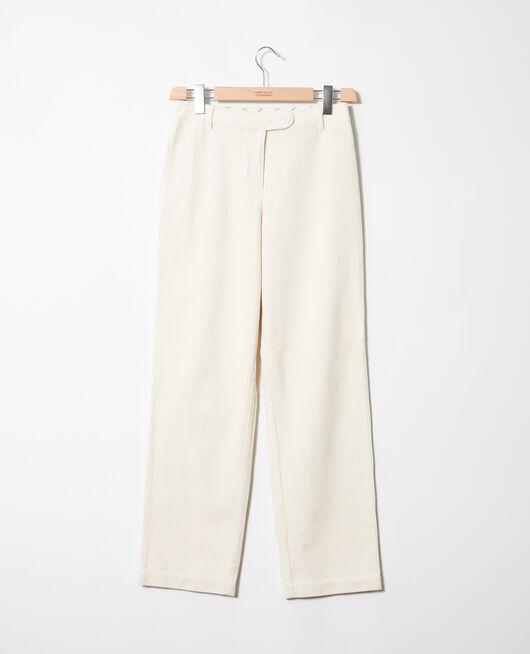 Hose aus Cord OFF WHITE