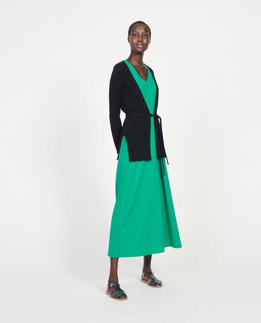 Cardigan mit breitem Rippstrick BLACK BEAUTY