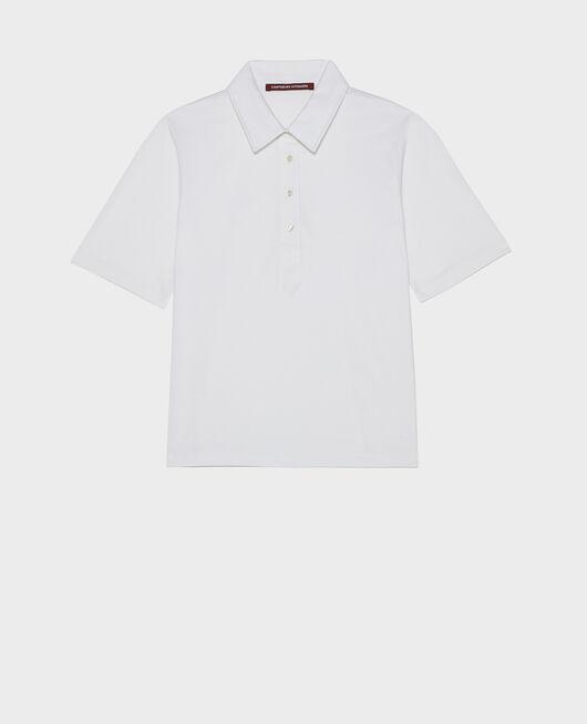 Polo-Shirt aus Baumwolle OPTICAL WHITE