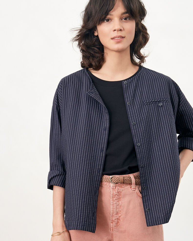 Gestreifte Bluse Navy/off white stripes Falaise