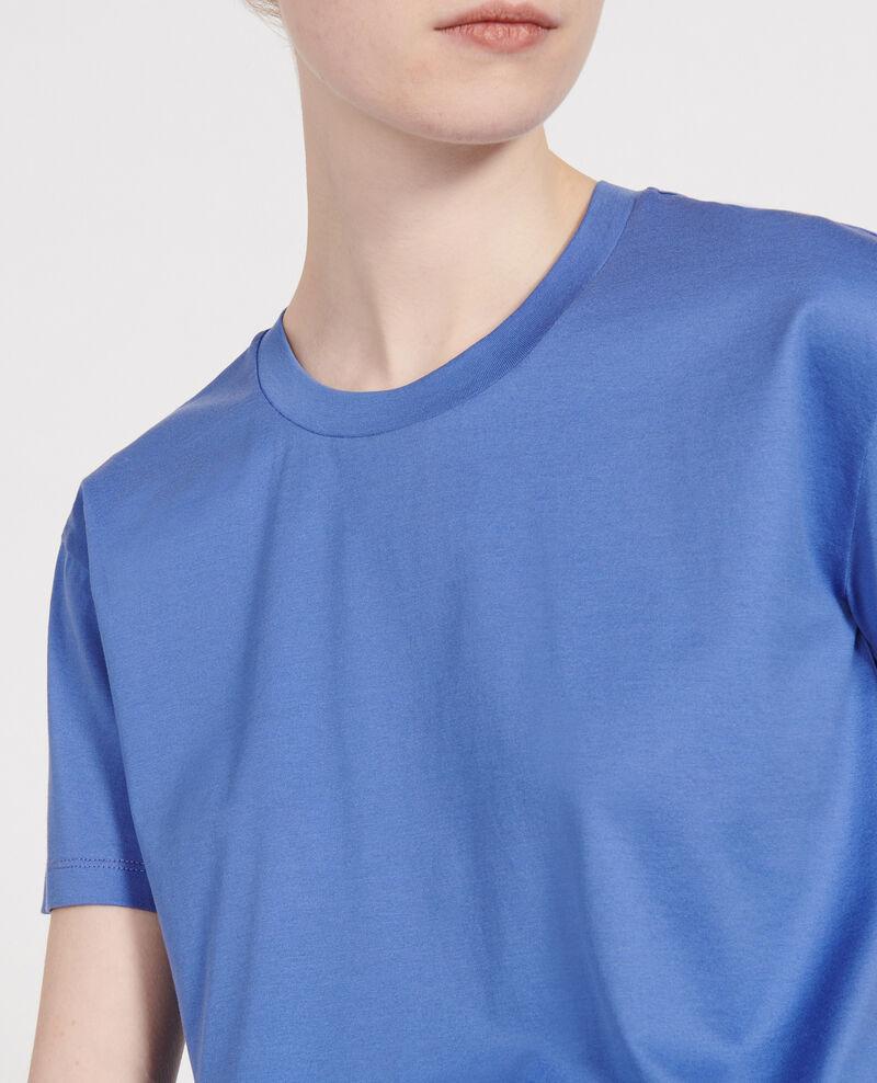 Kurzärmeliges T-Shirt aus Baumwolle Amparo blue Lirous