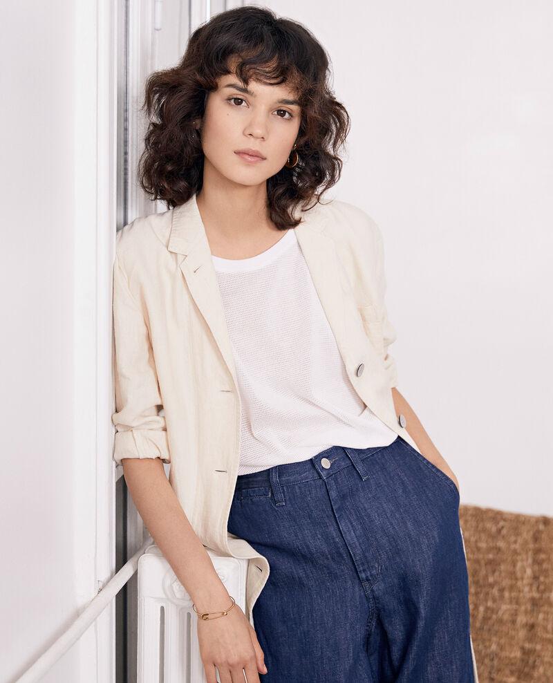 Jeans mit breitem Bein Dark indigo Feuillette
