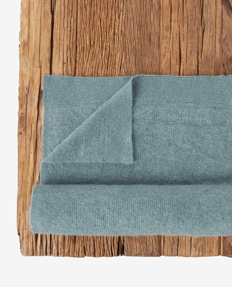 Schal mit Mohair und Wolle Dark celadon Frileux
