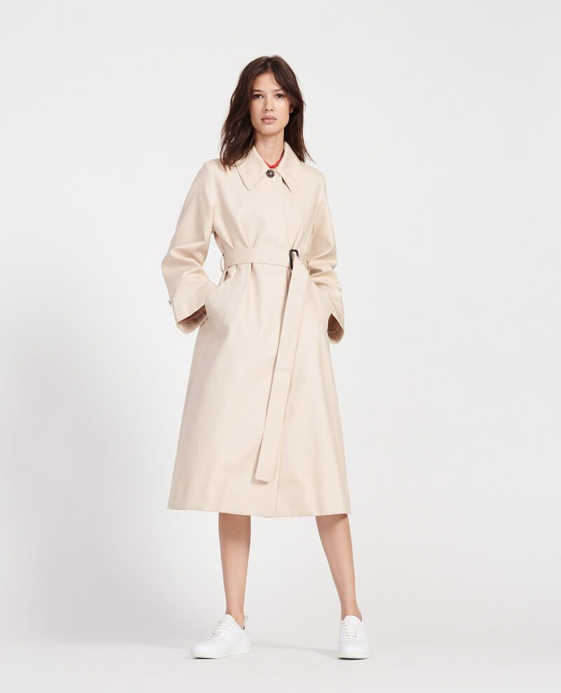 Trenchcoat aus Baumwolle  Smoke gray Locky