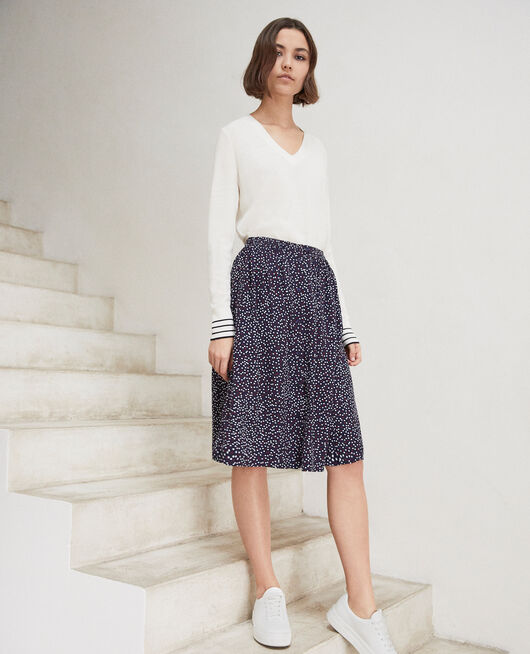 Midi-Rock DOT PRINT NAVY